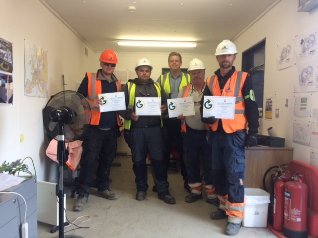 Staff of Alandale Logistics having just received their Certificates of Completion, Waste Segregation Course . Commercial Waste Segregation Course