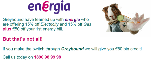 Switch to Energia.ie, Energia, Newsletter, Customer Updates, Competitions, Special Offers