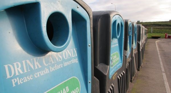 Bottle banks for glass recycling