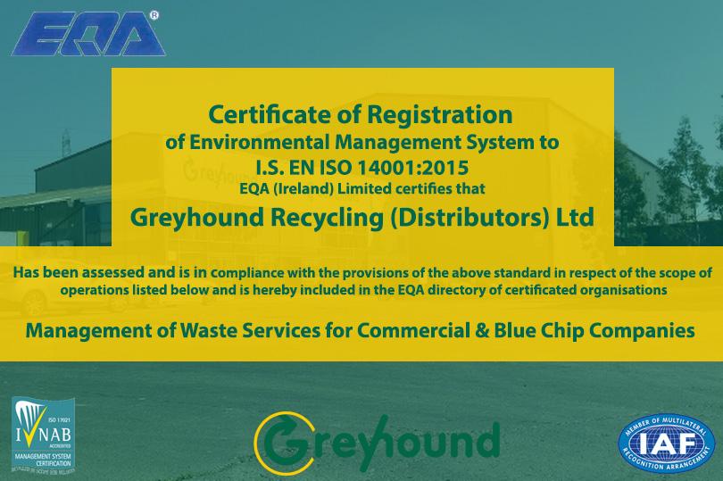Greyhound Certified by EQA