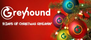 Greyhound 12 days of Christmas Giveaway