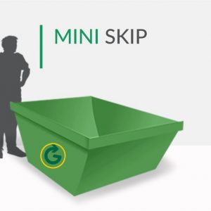 mini skip, 2.5 cubic yard skip