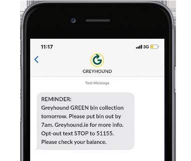 SMS notification Greyhound