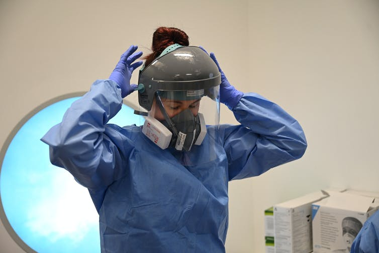 Waste PPE during the coronavirus pandemic