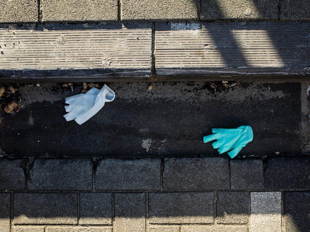 Broken Plastic Gloves