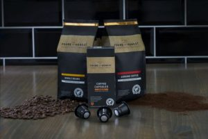 Whole beans ground coffee capsules