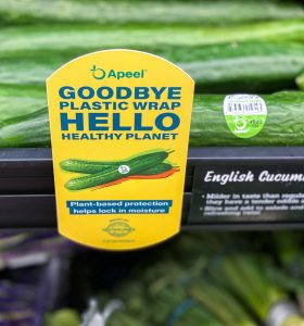 Apeel's packaging for cucumbers