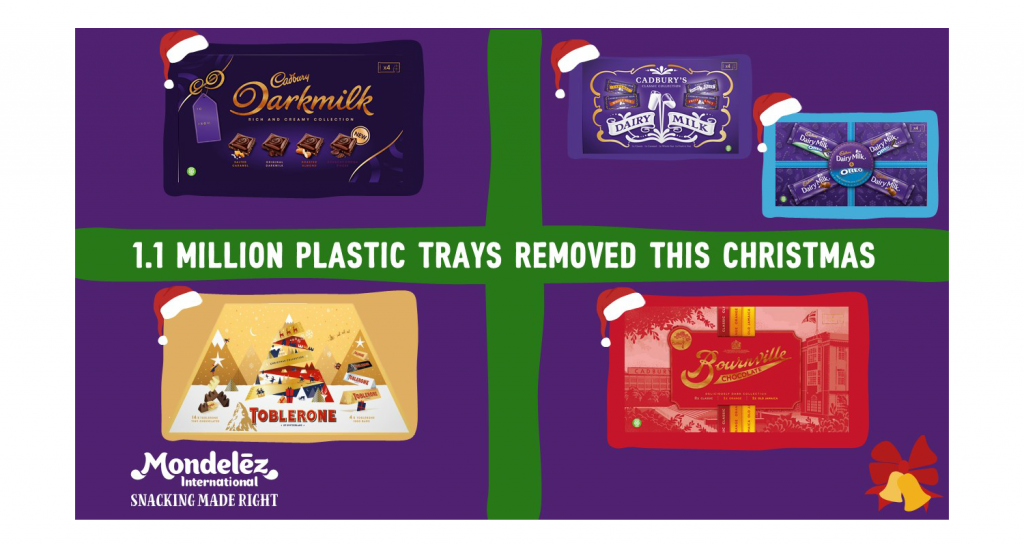 Mondelēz International removes plastic trays from selection boxes