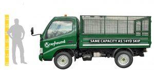 Greyhound van with 2 men