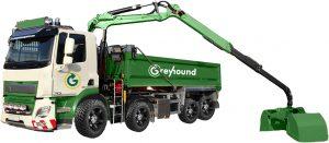 Greyhound grab lorry