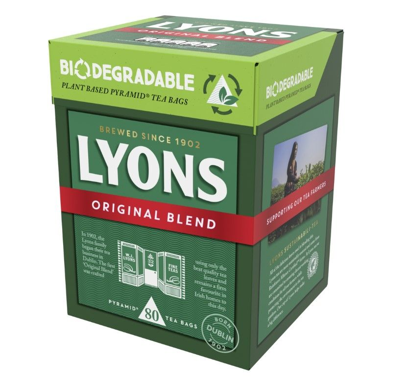 Stick the kettle on – Lyons Tea has launched new biodegradable teabags